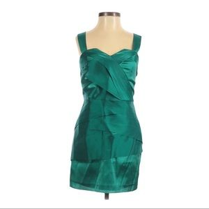 A|X Armani Exchange Green Layered Mini Dress